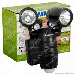 Velamp IS352 Faro LED 2x5W a Batteria con Sensore di Movimento - mod.IS352