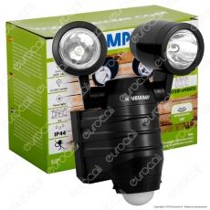 Velamp IS352 Faro LED 2x5W a Batteria con Sensore di Movimento