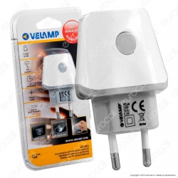 Velamp IR04 Lucciola Punto Luce LED Anti Black-Out con Pulsante ON-OFF  - mod.IR04