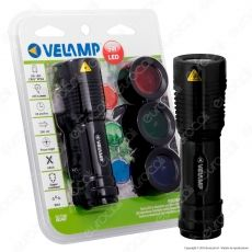 Velamp IN248F Huntman Torcia LED con Filtri Colorati