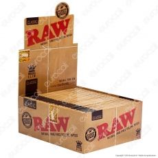 Cartine Raw Classic King Size Slim Lunghe - Scatola da 50 Libretti