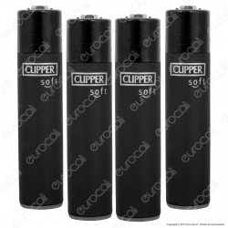 Clipper Large Fantasia Soft Black - 4 Accendini