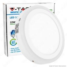 V-Tac VT-2209RD Pannello LED Rotondo Side Light 22W SMD - SKU 4896 / 4897 / 4898