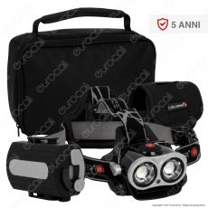 Ledlenser Xeo 3 Torcia LED Headlight Multifunzione Ricaricabile con Powerbank 5200mAh