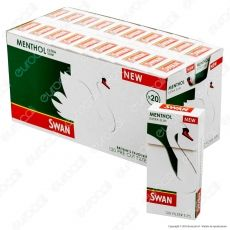 Swan Extra Slim 5,5mm al Mentolo In Cannuccia - Box 20 Scatoline da 120 Filtri