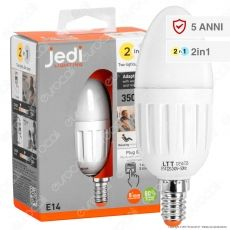 Jedi Lighting Lampadina LED E14 5,5W 2in1 Candela