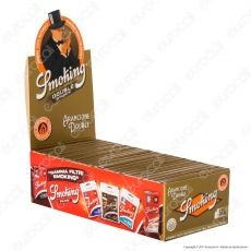 Cartine Smoking Orange Corte Doppie - Scatola da 25 Libretti