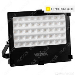 Wiva Optic Square Faretto LED SMD 50W Ultra Sottile Colore Nero - mod. 91100910