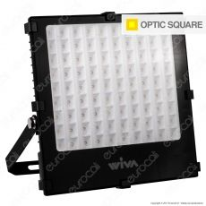 Wiva Optic Square Faretto LED SMD 100W Ultra Sottile Colore Nero