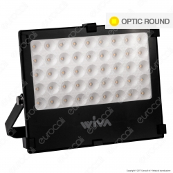 Wiva Optic Round Faretto LED SMD 50W Ultra Sottile Colore Nero - mod. 91100900