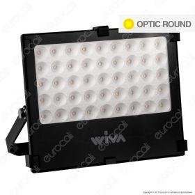 Wiva Optic Round Faretto LED SMD 50W Ultra Sottile Colore Nero