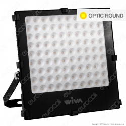 Wiva Optic Round Faretto LED SMD 100W Ultra Sottile Colore Nero - mod. 91100902