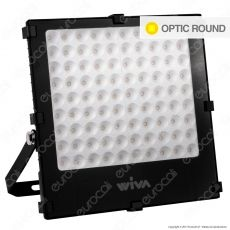 Wiva Optic Round Faretto LED SMD 100W Ultra Sottile Colore Nero