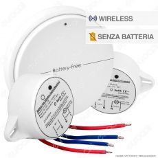 V-Tac VT-542 Interruttore Wireless Two Gang Senza Fili e Batteria 2 Ricevitori - SKU 8230
