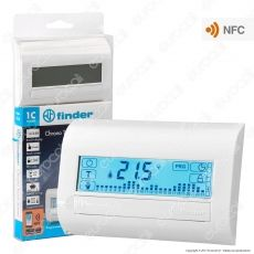 Finder Serie 1C Cronotermostato Touch Screen Settimanale con NFC 5A mod. 1C.81