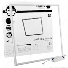 Kanlux AVAR Pannello LED a Cornice 60x60 40W SMD con Driver