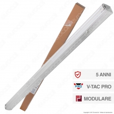 V-Tac PRO VT-4551D Linear Master Trunking Track Light Lineare 50W Fascio Asimmetrico Dimmerabile - SKU 1362