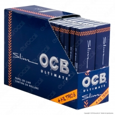 OCB Ultimate Pack Cartine King Size Slim Lunghe e Filtri in Carta - Scatola da 32 Libretti