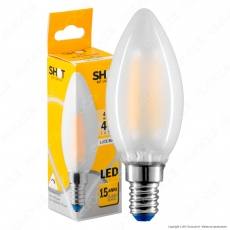 Bot Lighting Lampadina LED E14 4W Candela Frost Filamento
