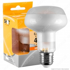 Bot Lighting Lampadina LED E27 6,5W Bulb Reflector R80 Frost Filamento