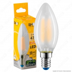 Bot Lighting Lampadina LED E14 5W Candela Frost Filamento Dimmerabile