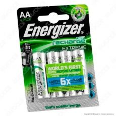 Energizer Accu Recharge Extreme 2300mAh Pile Ricaricabili Stilo AA - Blister 4 Batterie