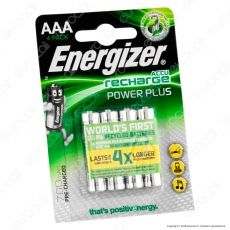 Energizer Accu Recharge Power Plus 700mAh Pile Ricaricabili Ministilo AAA - Blister 4 Batterie