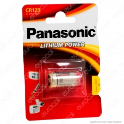 Panasonic Lithium Power CR123 Pila Al Litio - Blister 1 Batteria