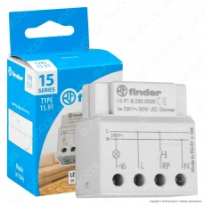 Finder 15.91.8.230.000 Teleruttore Dimmer Elettronico a Impulso 230V