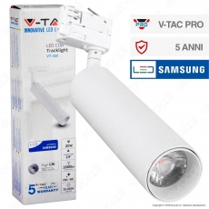V-Tac PRO VT-420 Track Light LED COB 20W Colore Bianco Chip Samsung - SKU 362 / 363 / 364