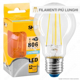 Bot Lighting Shot Lampadina LED E27 6W Bulb A60 Filamento Extra-Lungo