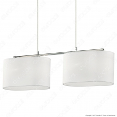 Ideal Lux Sheraton SP4 Lampadario in Metallo con Portalampada E14