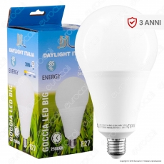 Daylight Goccia LED Lampadina LED E27 30W Bulb High Power - mod.700716 / 700717