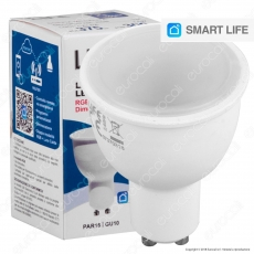 Life Lampadina LED Smart Life GU10 4,5W Faretto RGB+W Dimmerabile