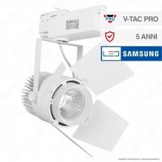V-Tac PRO VT-433 Track Light LED COB 33W Colore Bianco Chip Samsung - SKU 368 / 369 / 370