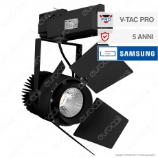 V-Tac PRO VT-433 Track Light LED COB 33W Colore Nero Chip Samsung - SKU 371 / 372 / 373