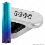 Clipper Metal Large in Metallo Blue Gradient - 1 Accendino
