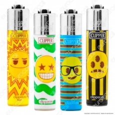 Clipper Micro Fantasia Happy Emoji 1 - 4 Accendini