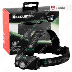 Ledlenser MH8 Torcia LED Headlight Multicolore e Multifunzione Colore Nero - Torcia Frontale - mod. 500972