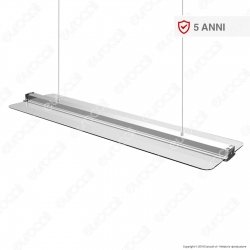 V-Tac VT-6144 Pannello LED 120x30 a Sospensione 40W Transparent Light - SKU 6458
