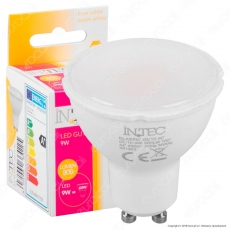 Fan Europe Intec Light Lampadina LED GU10 9W Faretto Spotlight - mod. KLASSIC-GU10-9C / KLASSIC-GU10-9M / KLASSIC-GU10-9F