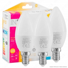 Fan Europe Intec Light Confezione Risparmio 3 Lampadine LED E14 6W Candela