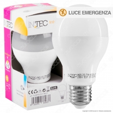 Fan Europe Intec Light Lampadina LED E27 7W Bulb A65 Emergenza Anti Black-Out - mod. I-LUMYA-E27-HELP