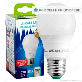 Bot Lighting Airam Frost Lampadina LED E27 5,5W Bulb per Celle Frigorifere - mod. 4711394