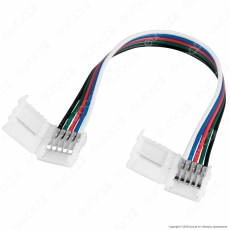 Connettore Flessibile per Strisce LED Multicolore RGB+W 5050 Clip 5 Pin - SKU 2587