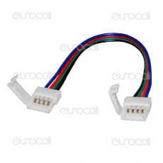Connettore Flessibile per Strisce LED Multicolore RGB 5050 Clip 4 Pin