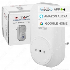 V-Tac Smart VT-5148 Spina Wi-Fi Intelligente Italiana 10A 2P - SKU 8470