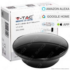 V-Tac Smart VT-5144 RF433 Gateway Compatibile con Amazon Alexa Google Home e Nest - SKU 8466