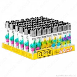 Clipper Micro Fantasia Leaves - Box da 48 Accendini