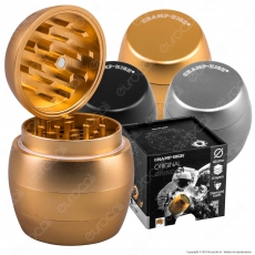 Grinder Tritatabacco Champ 4 Parti in Metallo Ø40mm - Forma Ovale